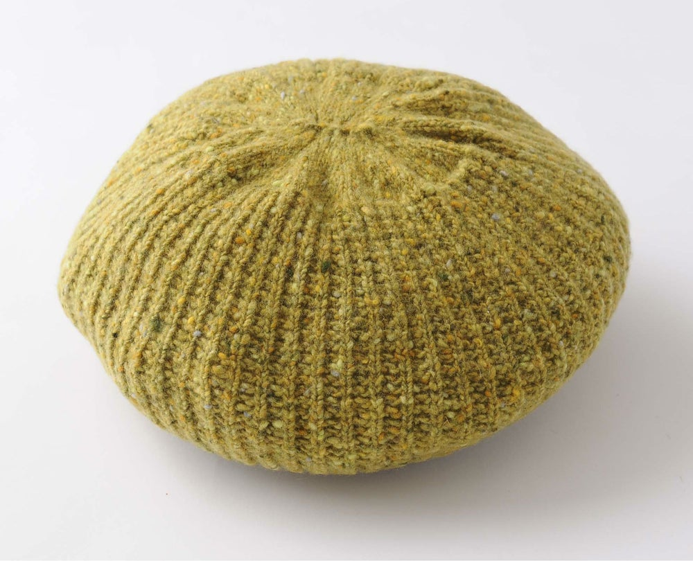 Image of Tweedy Donegal Shell Beret / Yellow