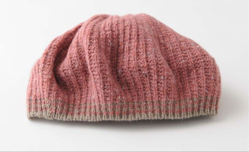 Image of Tweedy Donegal  Shell Beret / Pink