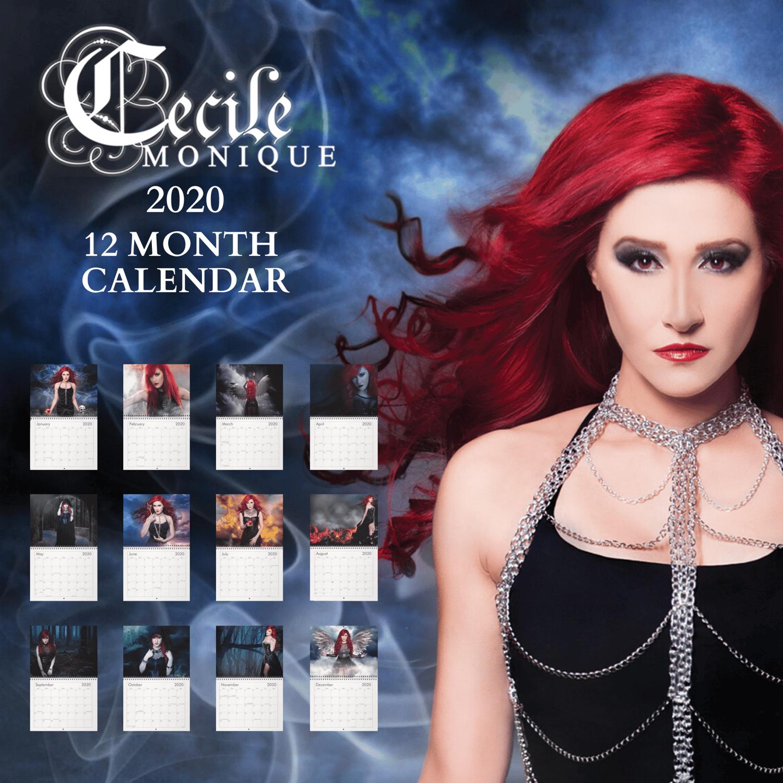 Image of Cecile Monique 2020 12 Month Calendar