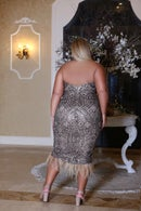 Image 2 of CLARA gold sequinned dress
