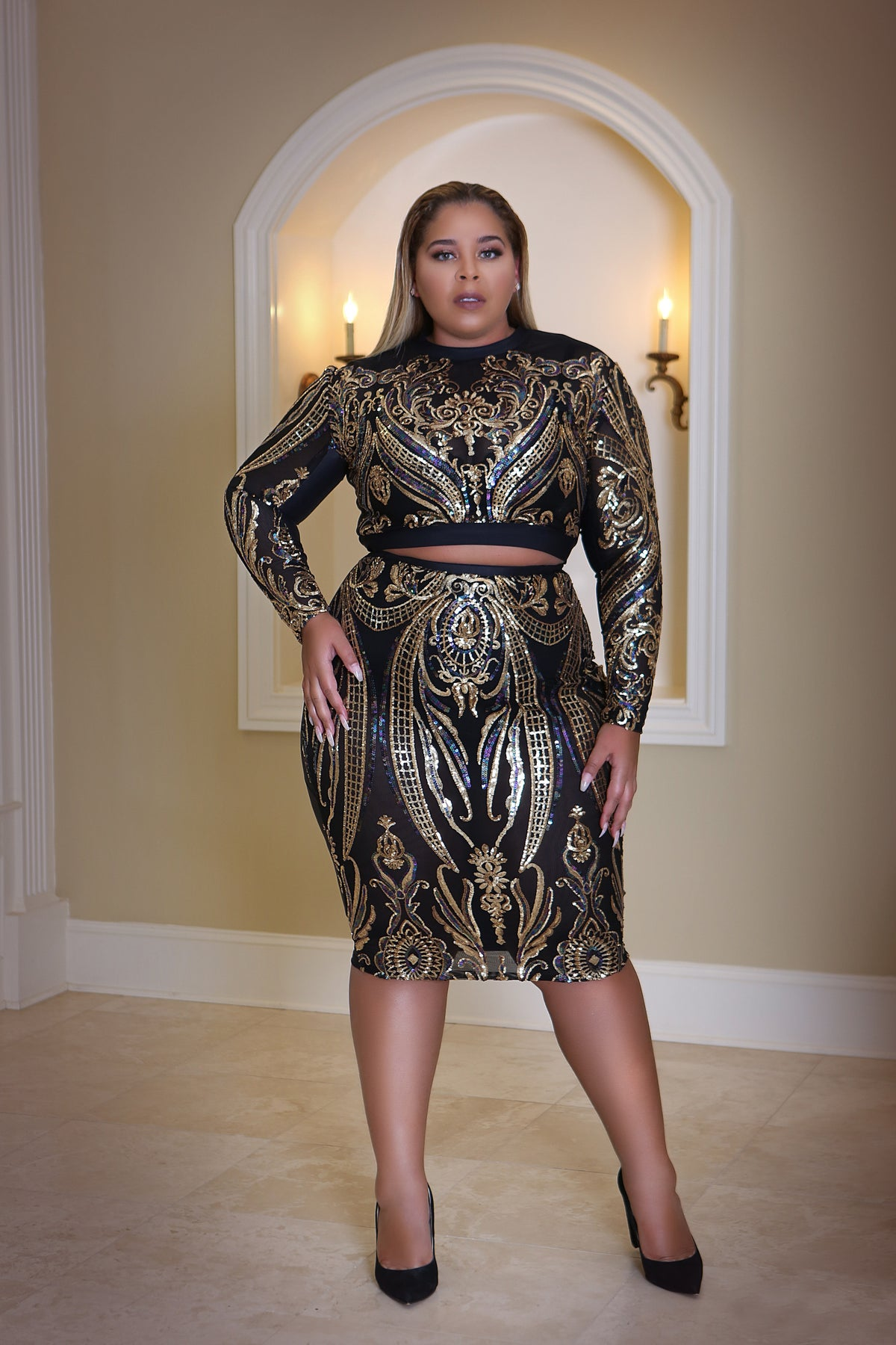 Image of NORA two piece skirt set
