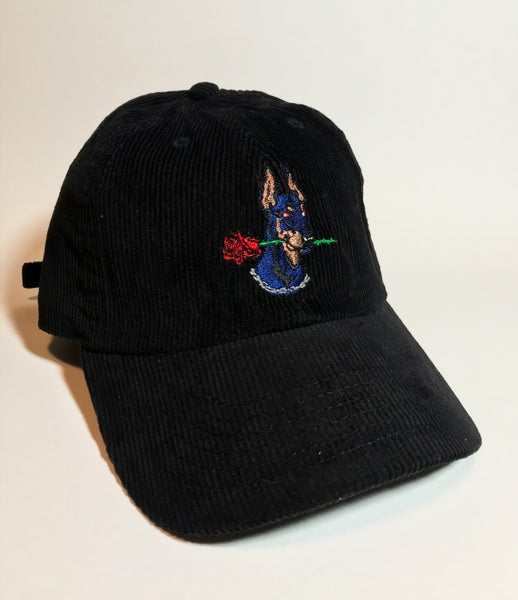 Image of Dog Days black corduroy strapback