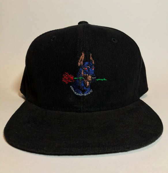 Image of Dog Days black corduroy snapback
