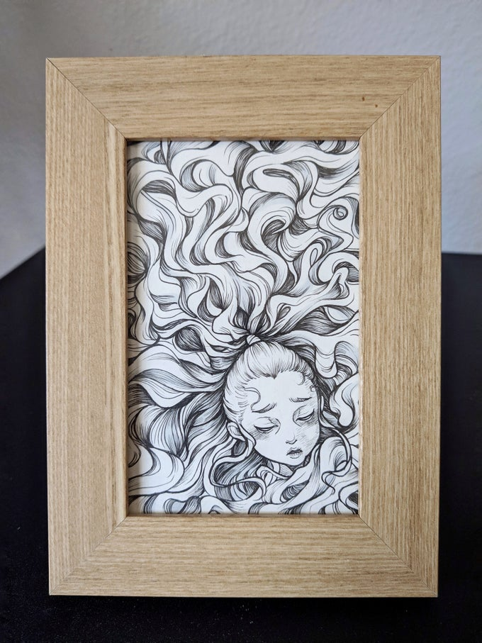 "Image of ""Curly"" Original (Framed)"