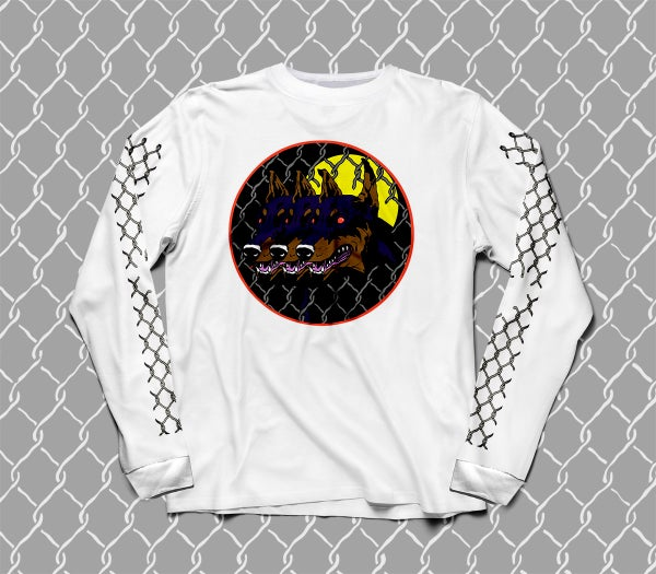 Image of Dog Days long sleeve white Tee