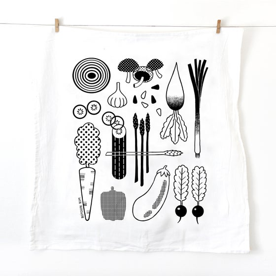 Image of Vegetable Tea Towel