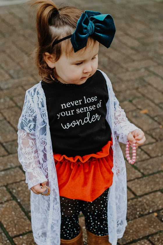 Image of NEVER LOSE YOUR WONDER tee