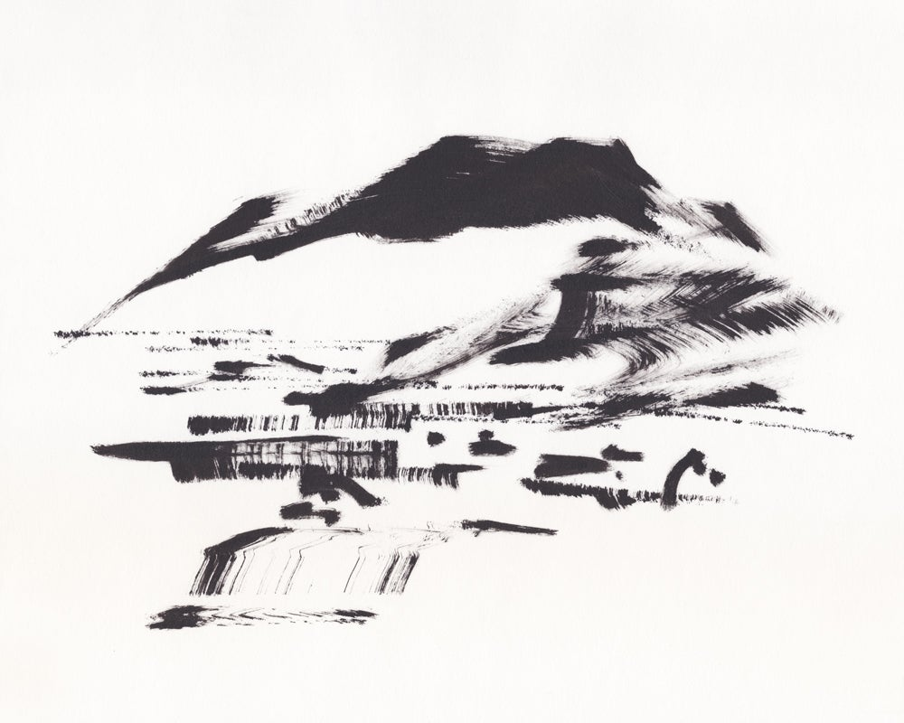 Image of Print of Sketch #RCD191106-02 — SW Glendale & Verdugo Mountains