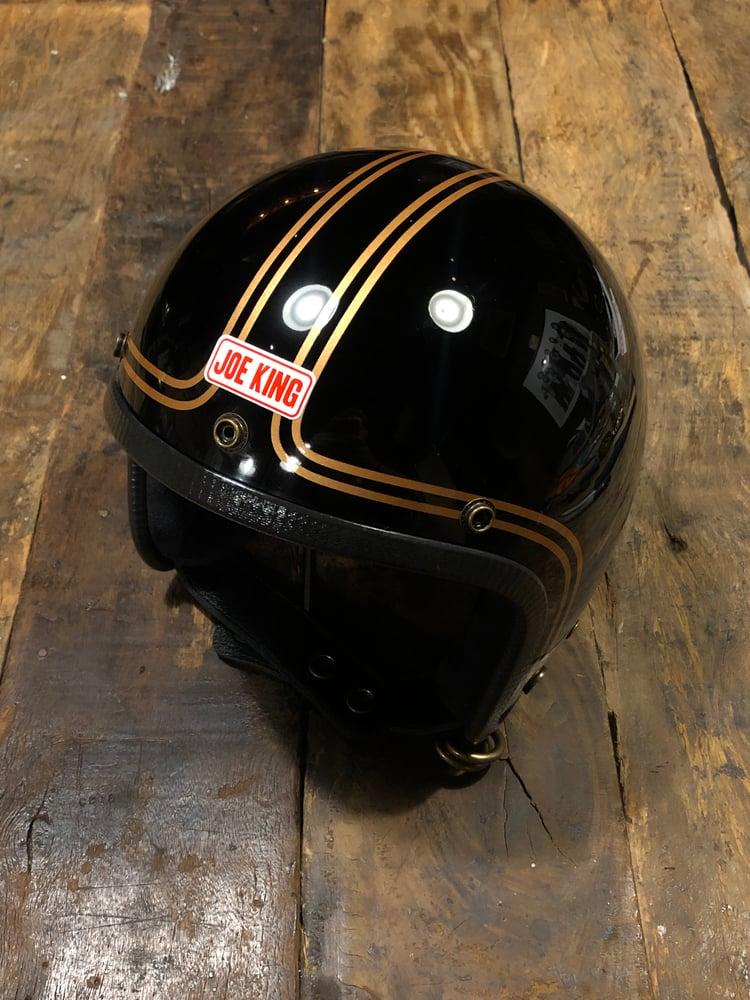 Image of JK400 Black & Double Gold Pinstripes