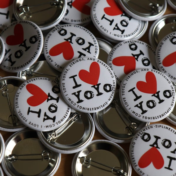 Image of I Heart Yoyo Button • v2