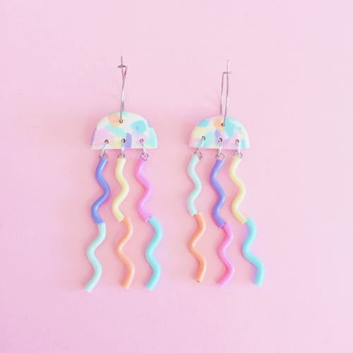 Image of NEW✨MINI jellyfish earrings various colours 🍦
