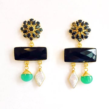 Image of Onyx Bar Earrings