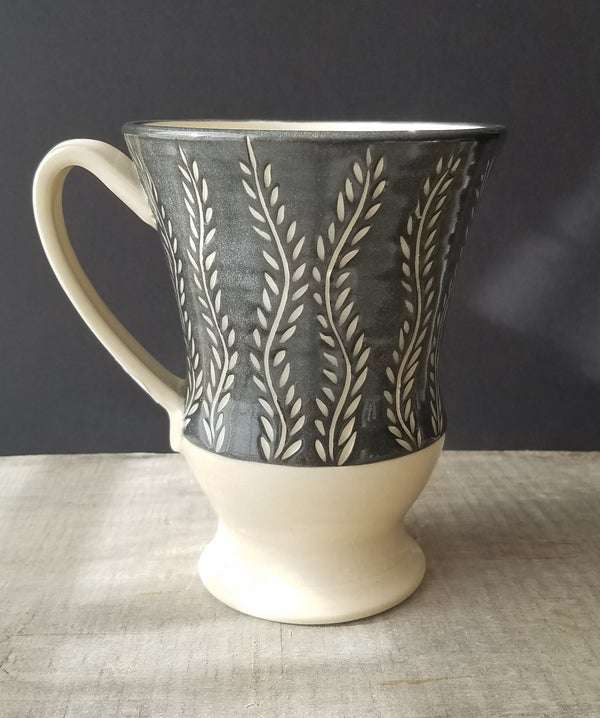 Image of Black & White Mug - Seaweed