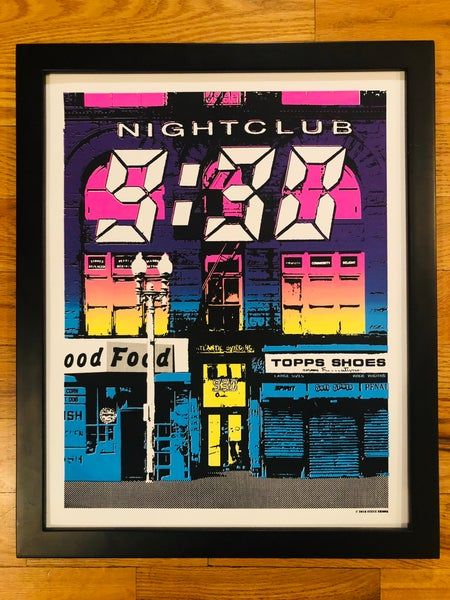 Image of Nightclub 9:30 Silk Screened Art Print - Double Fade