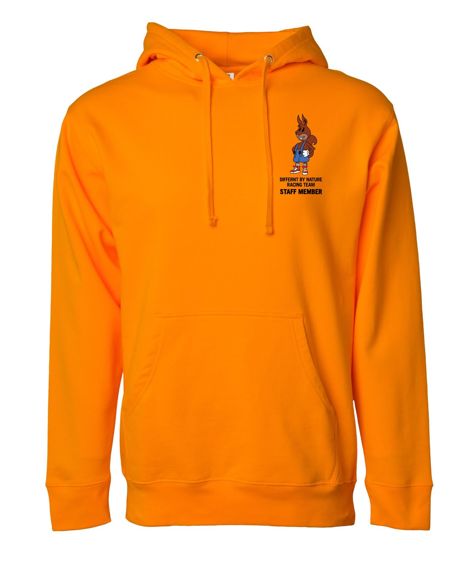 """Image of Differnt By Nature """"Safety Orange"""" Hoodie"""