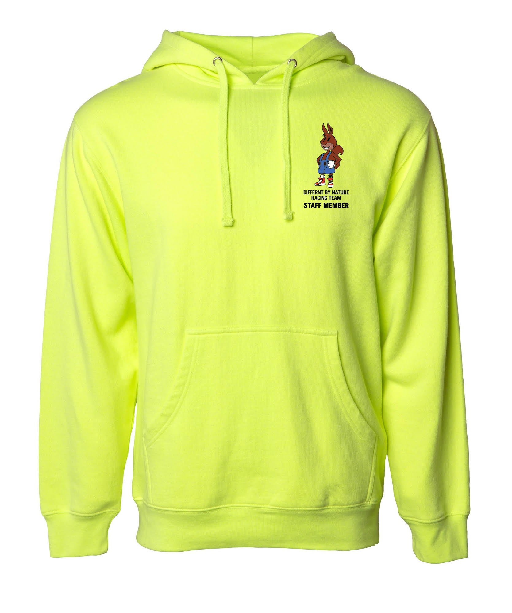 """Image of Differnt By Nature """"Safety Yellow"""" Hoodie"""