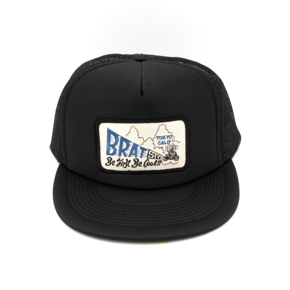 Image of BE FIRST BE COOL TRUCKER HAT w/z patch