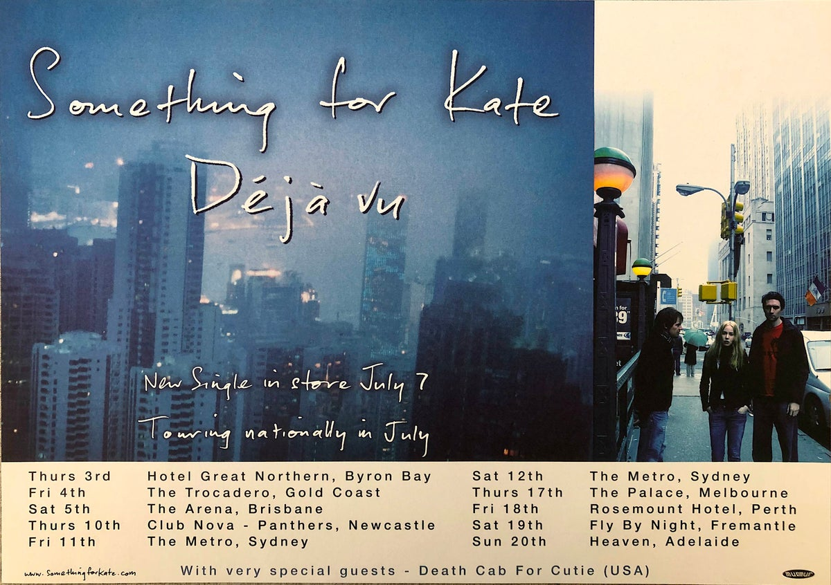 Image of Something for Kate Deja vu very rare promotional poster