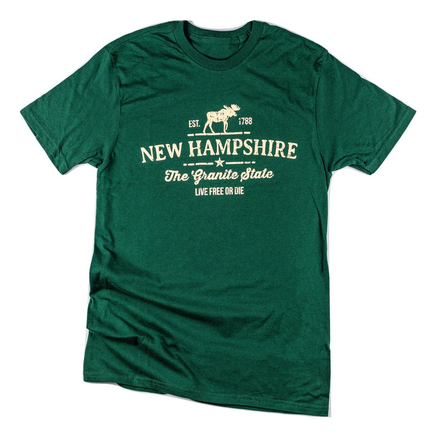 Image of Moose NH T-shirt- Forest Green