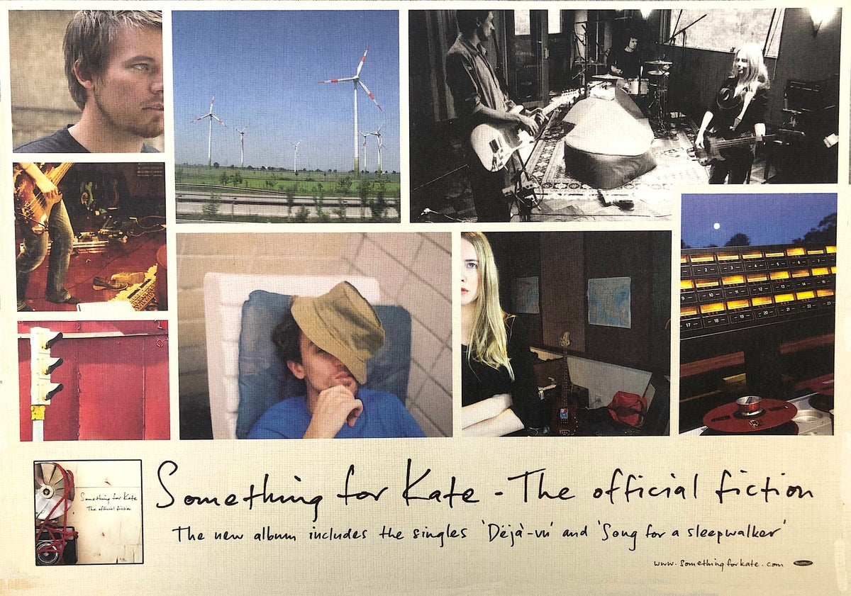 Image of Something for Kate very rare promotional poster for 'The Official Fiction'