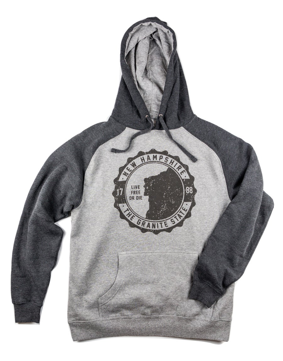 Image of Old Man of the Mountain Hoodie- Heather Grey/Charcoal