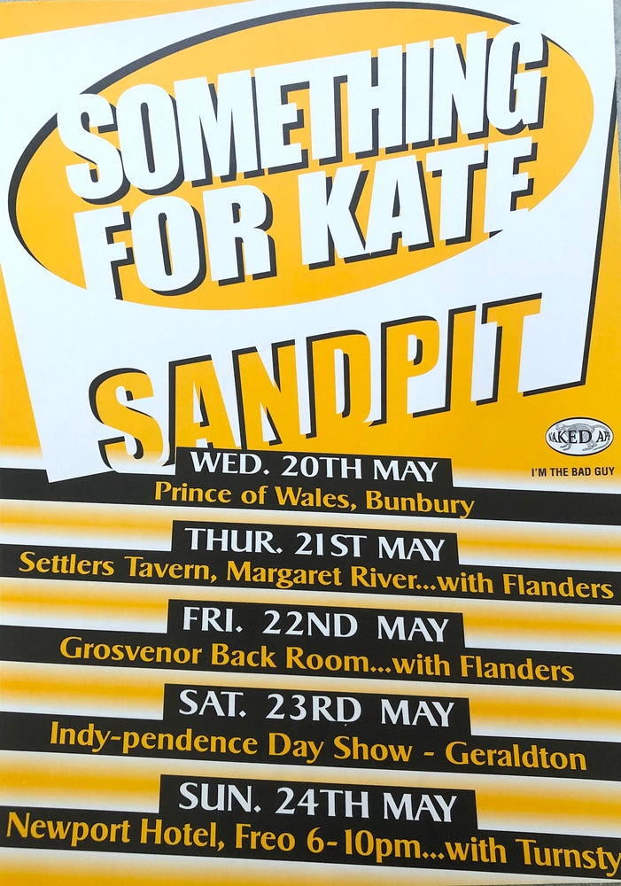 Image of Something for Kate / Sandpit Tour poster rare