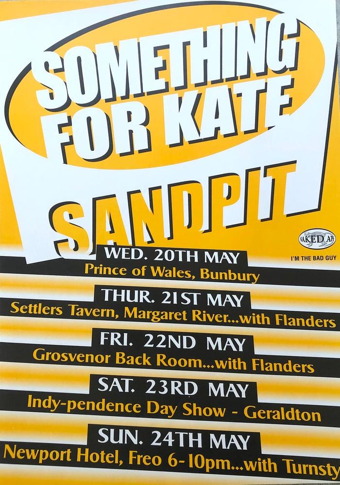 Image of Something for Kate / Sandpit Tour poster rare