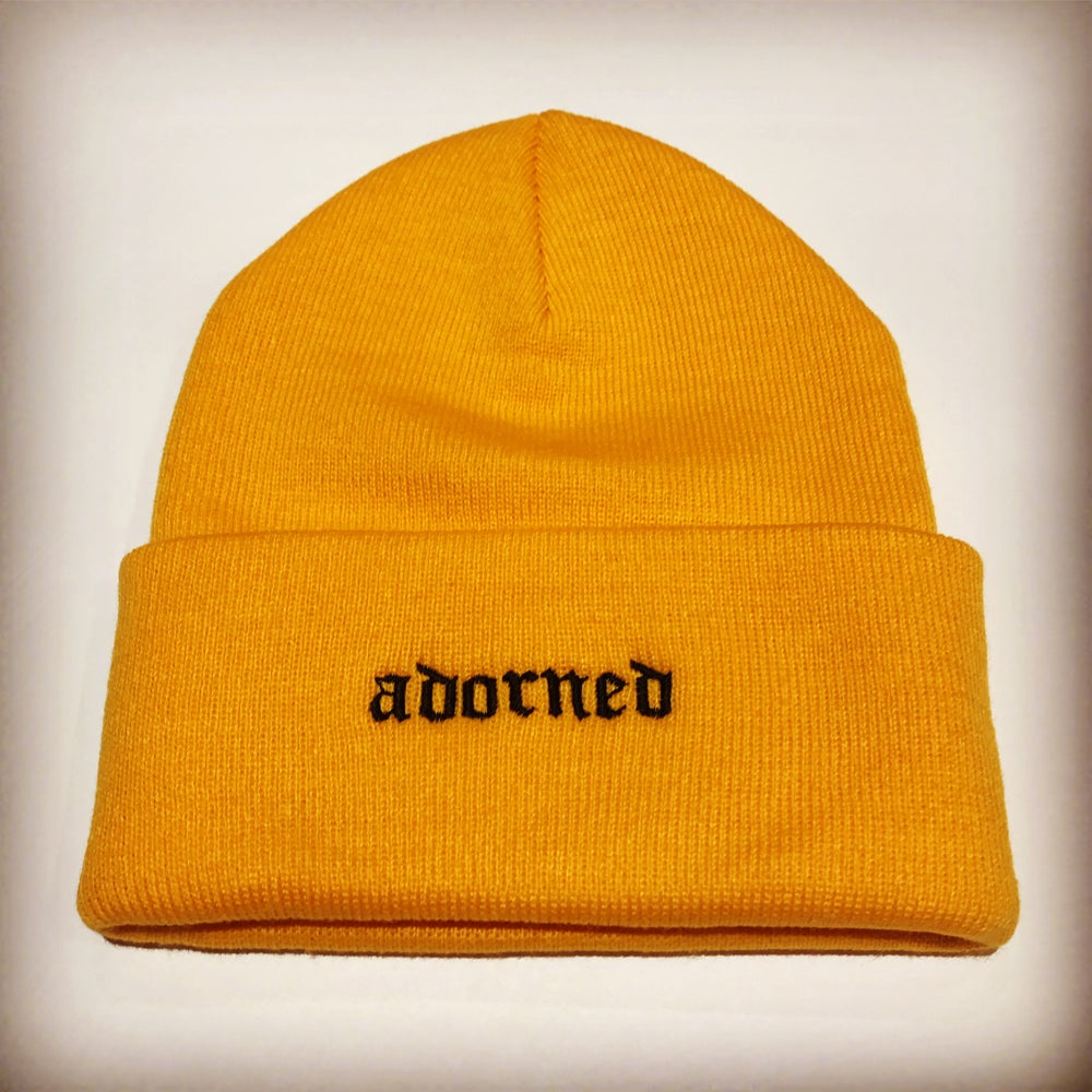 Image of YELLOW GOLD BEANIE