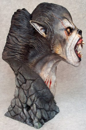 Image of Casey Love Werewolf Resin Bust (Fully Painted & Model Kit)
