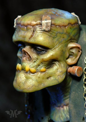 Image of Andy Bergholtz's The Monster Resin Bust (Fully Painted & Model Kit)