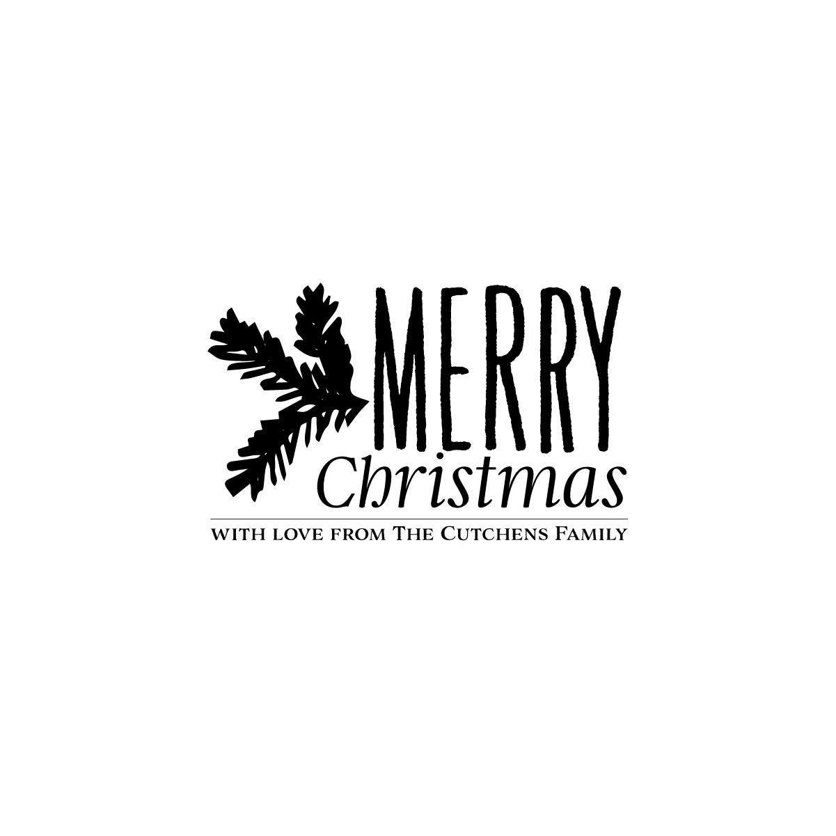 Image of Pine Merry Christmas Tag Stamp