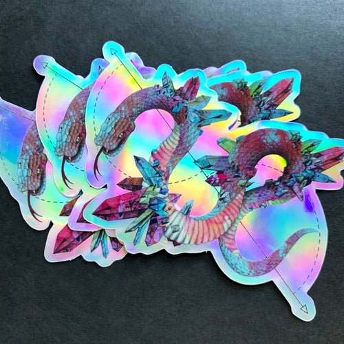 Image of Holo Glitter 'Crystalline Abnormalities' Sticker Pack