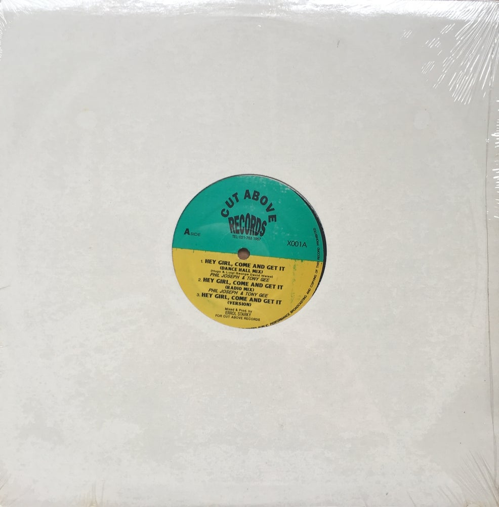 Image of PHIL JOSEPH & TONY GEE - HEY GIRL, COME AND GET IT / STIX MAN - LOWE NO LIMIT 12""
