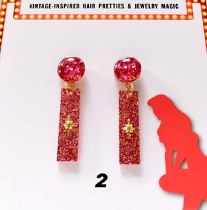 Image of Atomic Glitter O' Rama Earrings - Color 1-4