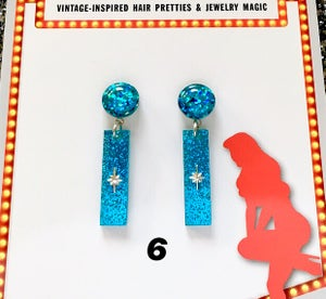 Image of Atomic Glitter O' Rama Earrings - Color 5-8