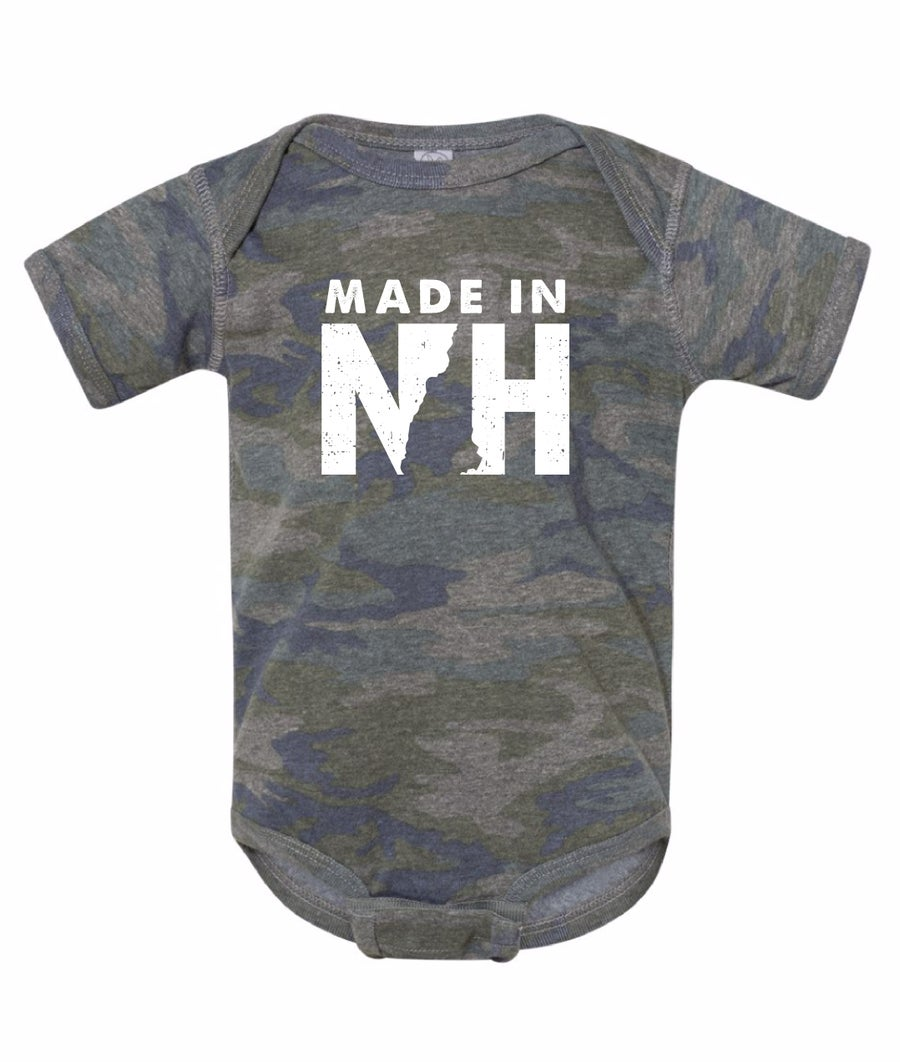 Image of Made in NH Onesie- Vintage Camo