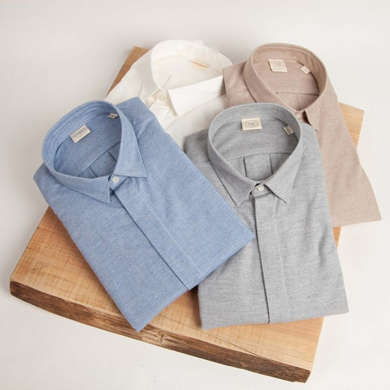 Image of Cashmere Blend Fly Front Shirt