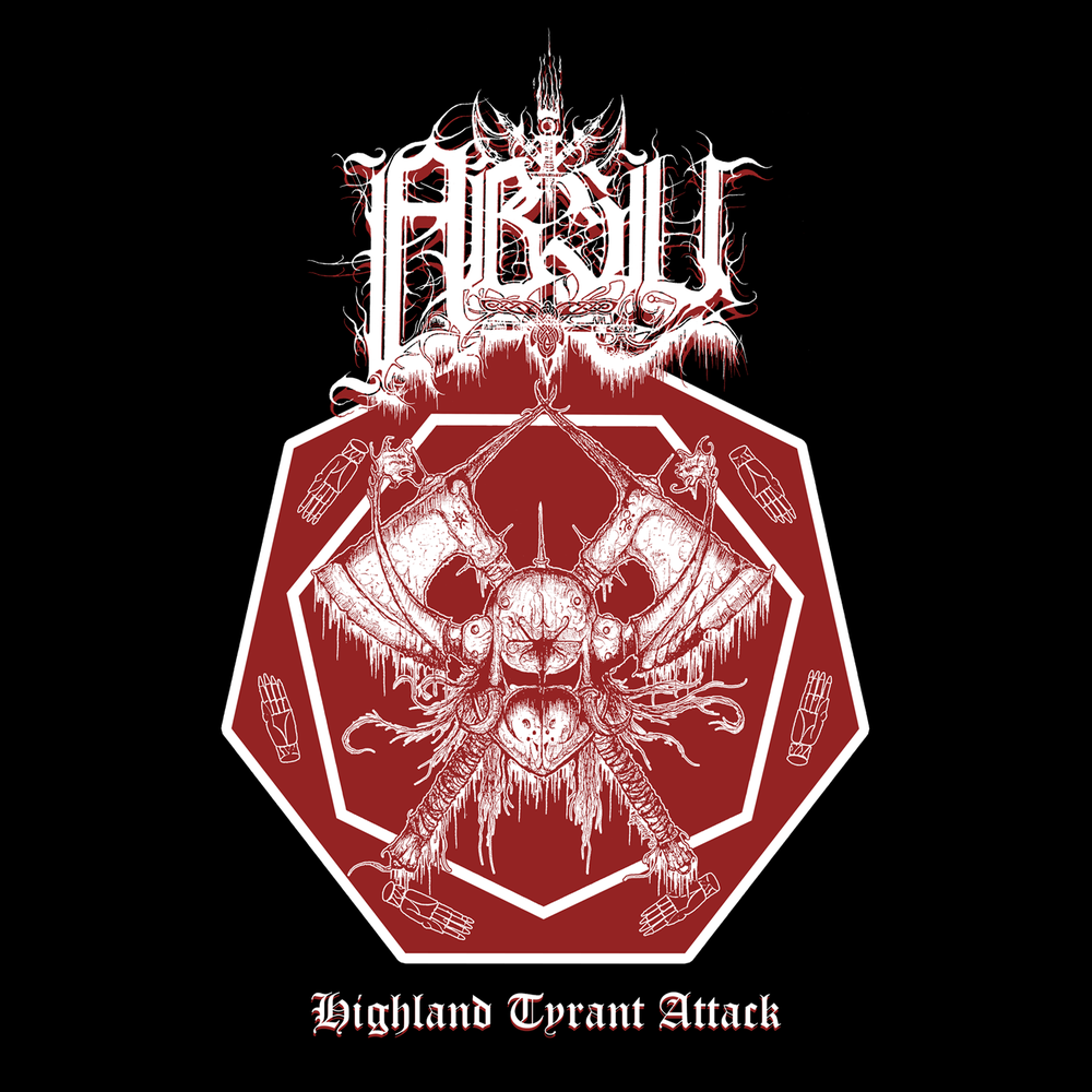 Image of ABSU - HIGHLAND TYRANT ATTACK (WHITE & RED PRINT) JERSEY 1