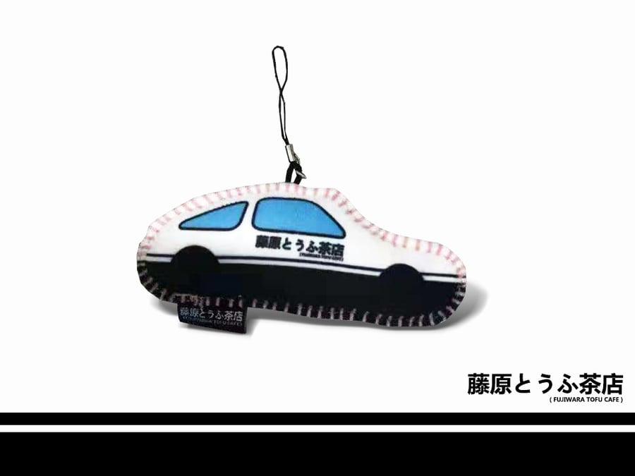 Image of Fujiwara Tofu Cafe Handmade AE86 Doll Key Chain