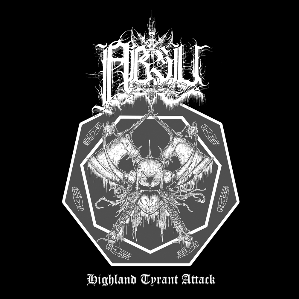 Image of ABSU - HIGHLAND TYRANT ATTACK (WHITE & GREY PRINT) JERSEY 2