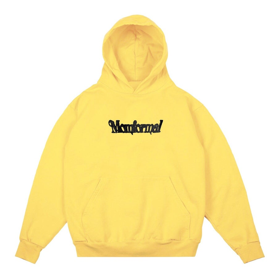 Image of EMBROIDERED ???? LOGO HOODIE (YELLOW)