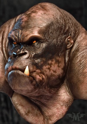 Image of Andy Bergholtz's Silverback Translucent Resin Bust