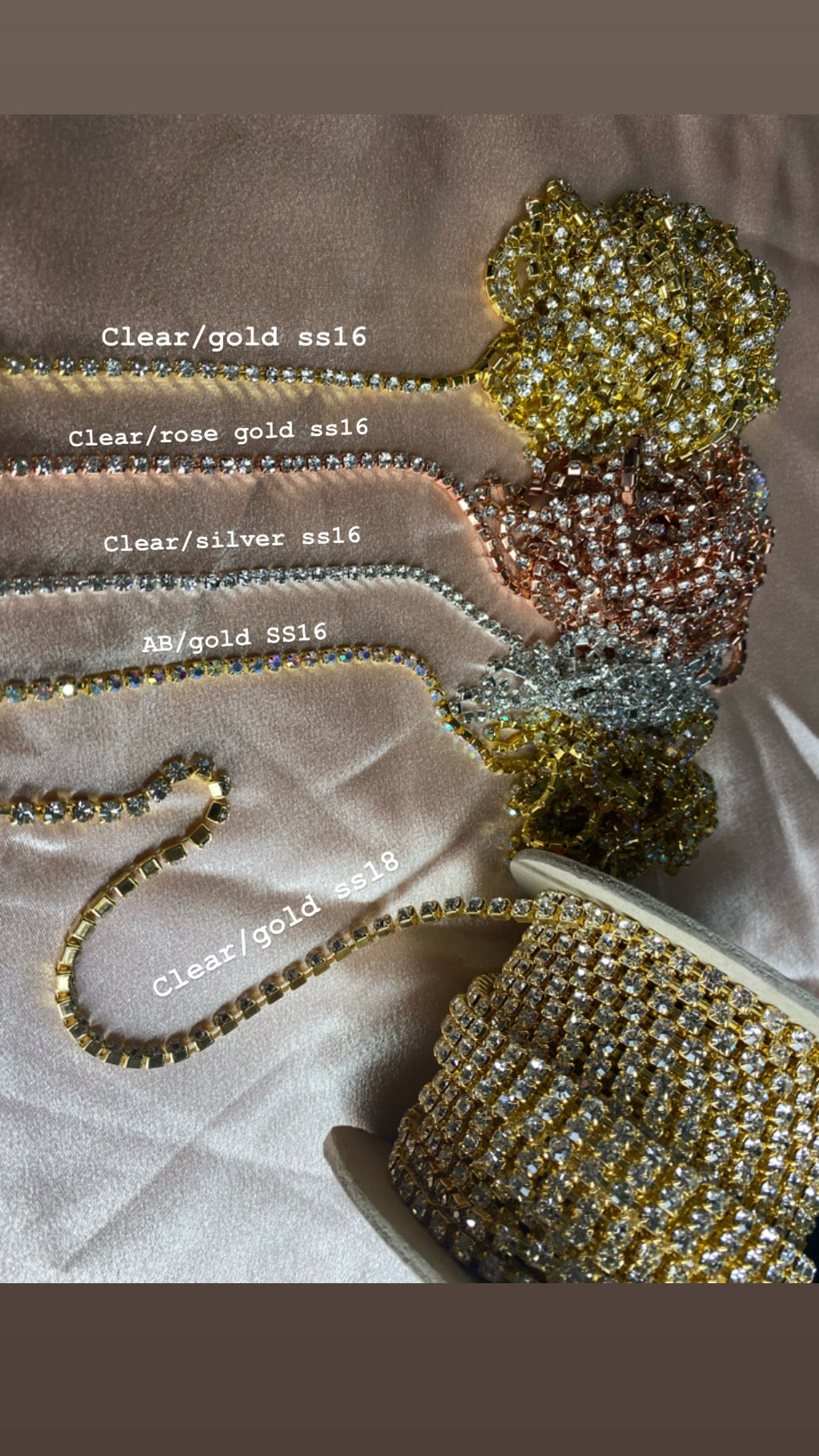 Image of CRYSTAL LAYERED STATEMENT DROP BODY CHAIN