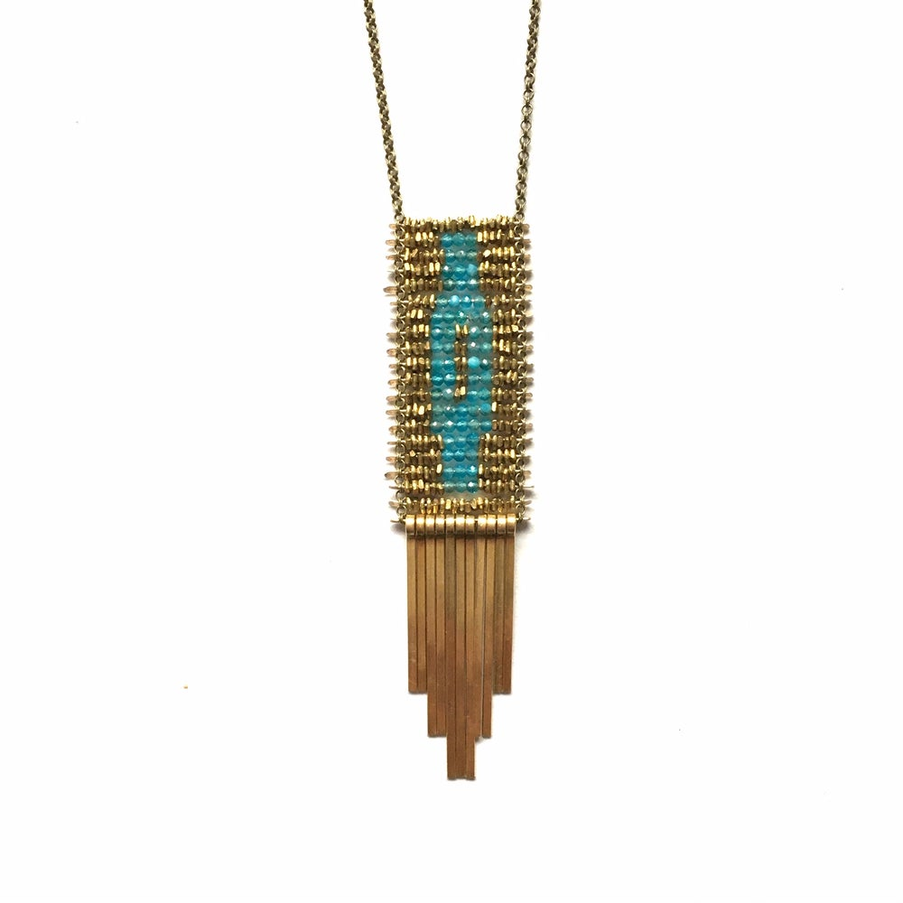 Image of Demimonde Apatite Tapestry Necklace