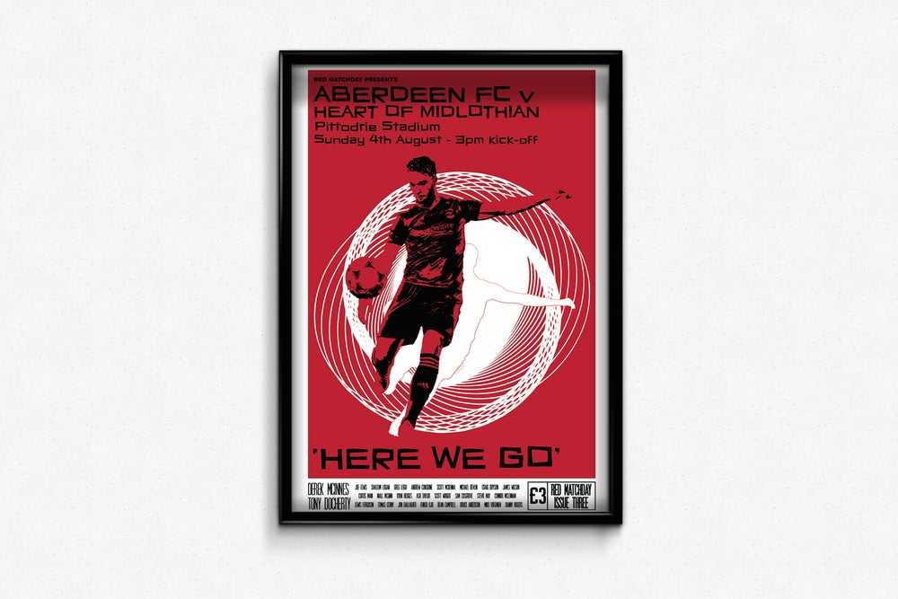 Image of Aberdeen FC Red Matchday Print - Here We Go