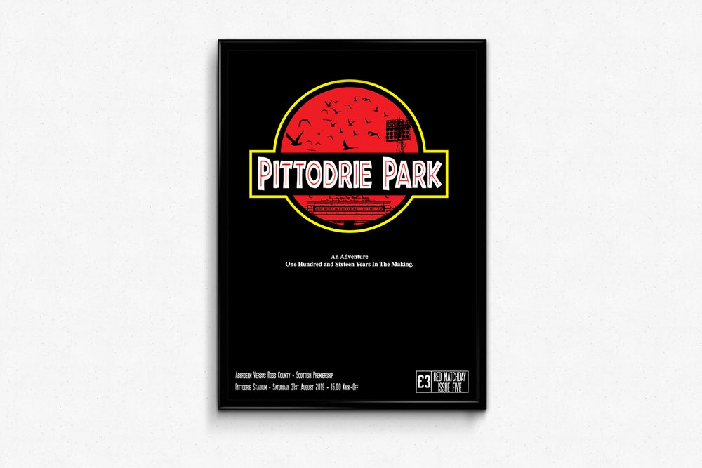 Image of Aberdeen FC Red Matchday Print - Pittodrie Park