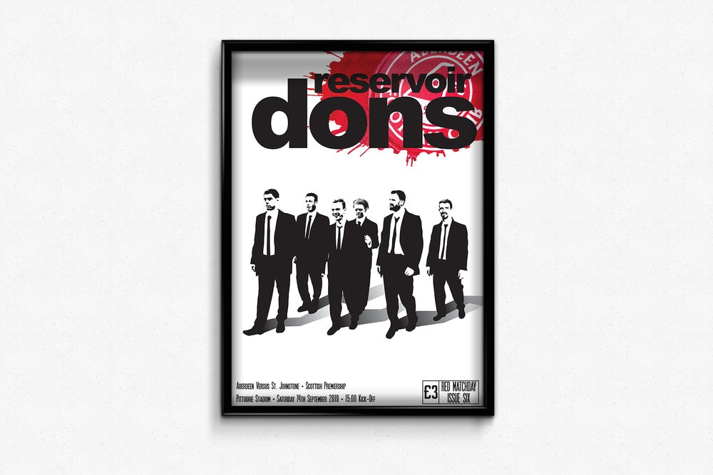 Image of Aberdeen FC Red Matchday Print - Reservoir Dons