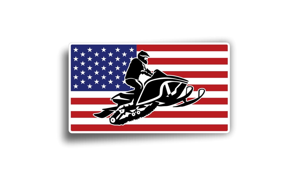Image of AMERICAN FLAG RIDER