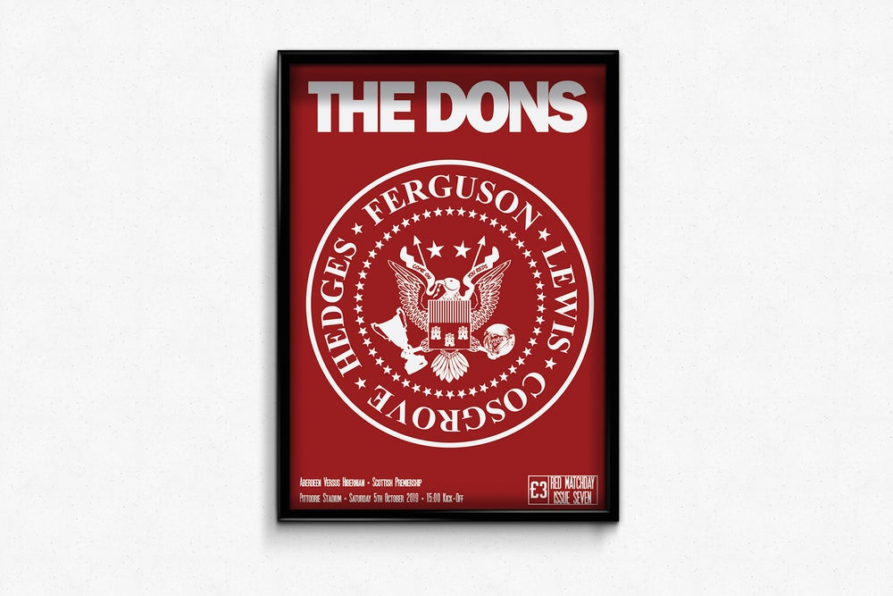 Image of Aberdeen FC Red Matchday Print - The Dons