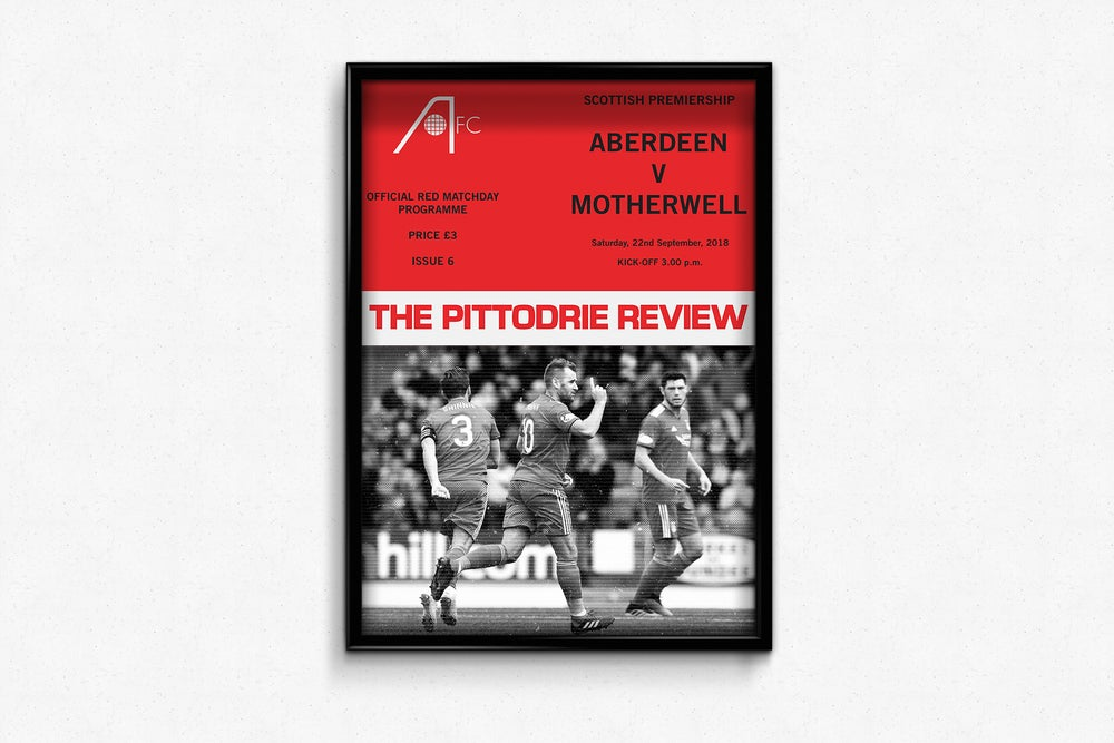 Image of Aberdeen FC Red Matchday Print - Aberdeen v Motherwell